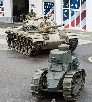 A Century of Military Technology on display this Veterans Day as a rare World War I tank is joined by an armor column of history