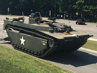 A U.S. Marine amphibious assault tank to be unveiled during World War II Encampment Weekend-2