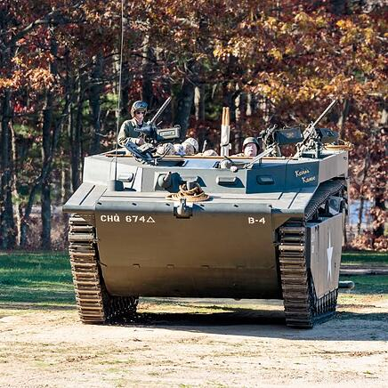 A U.S. Marine amphibious assault tank to be unveiled during World War II Encampment Weekend