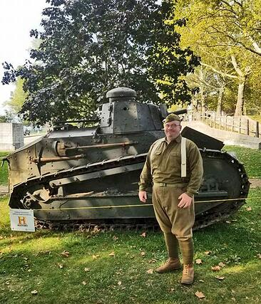Rare World War I tank on loan from The Collings Foundation on display at the Museum of American Armor
