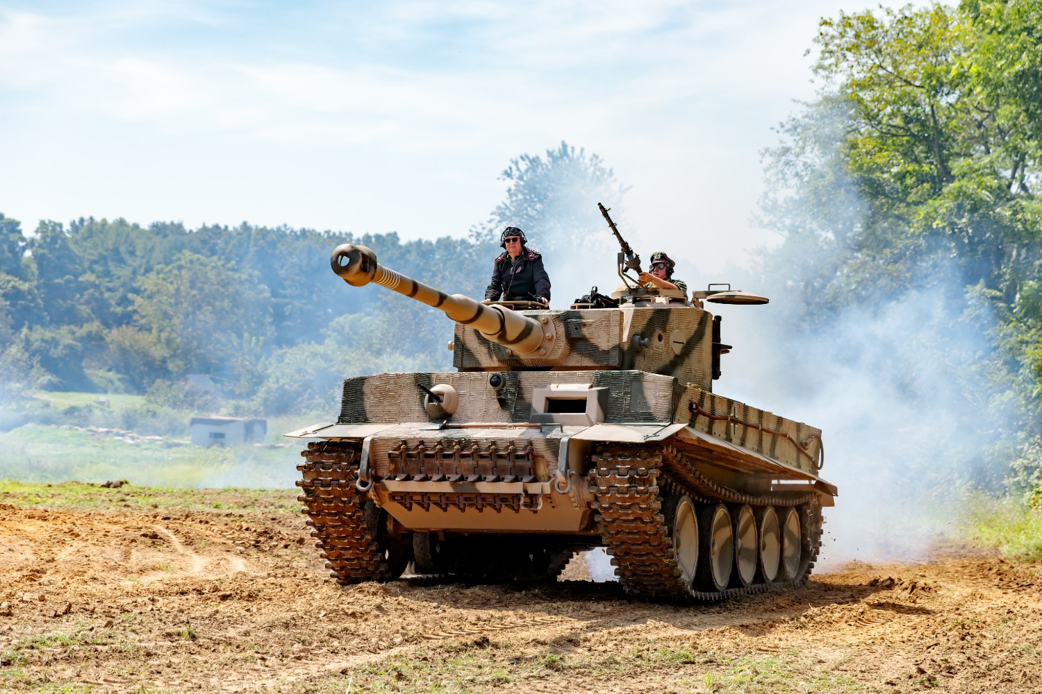 Operator in a Tiger Tank Replica