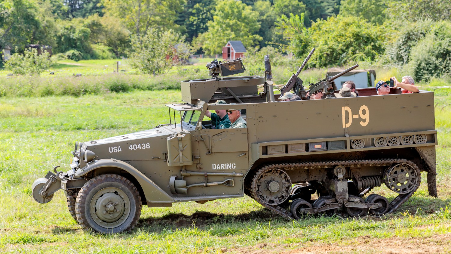 Driver in D-9 Artillery Tractor